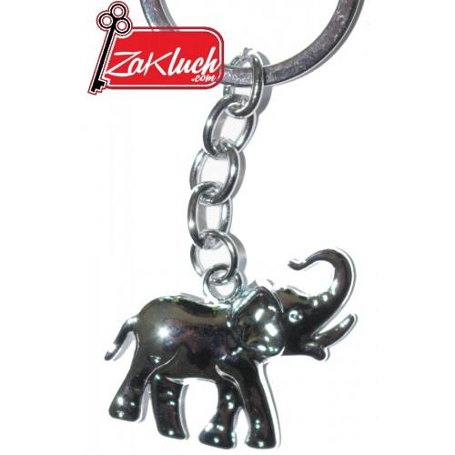 Слонче с вдигнат хобот - ключодържател