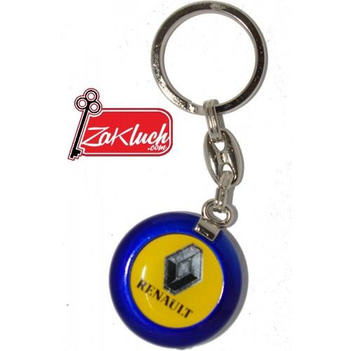 Рено - ключодържател в жълто-син цвят