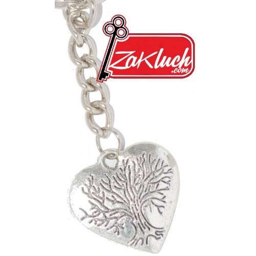 Сърце - дървото на живота - ключодържател