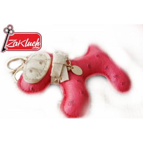 Червено куче - ръчно изработен ключодържател