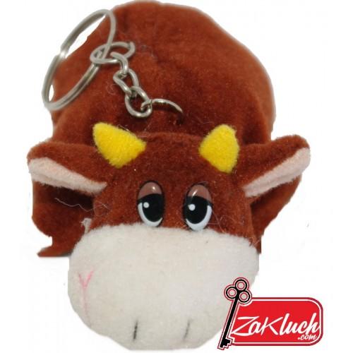 Крава - плюшен ключодържател