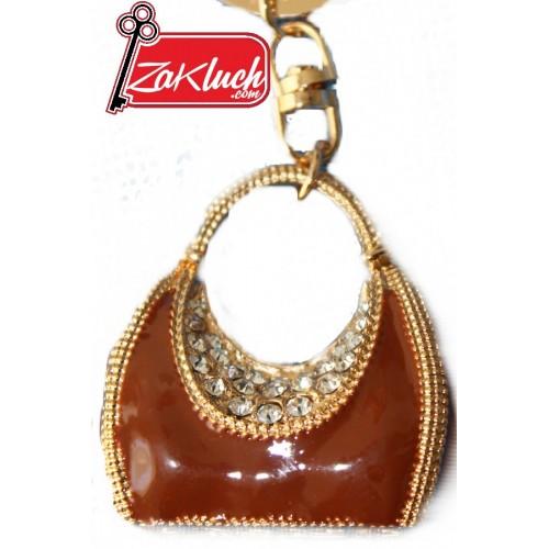 Ключодържател - луксозна дамска чанта с кристали