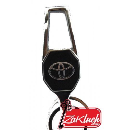Toyota  - метален ключодържател с черна кожа