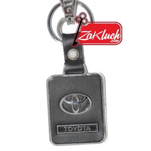 Черен кожен ключодържател за автомобили Toyota