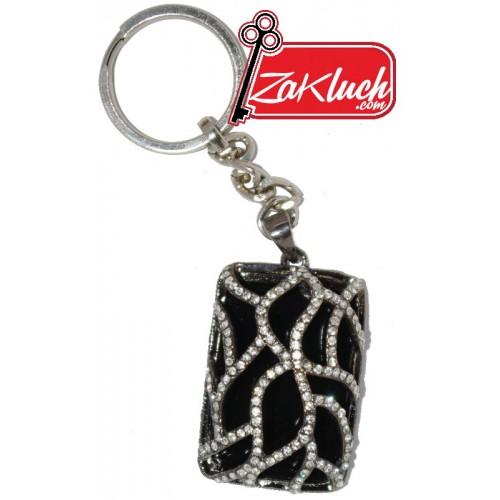 Луксозен ключодържател - медальон с кристали