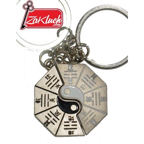 ИН - ЯН Двоен ключодържател, изработен от метал