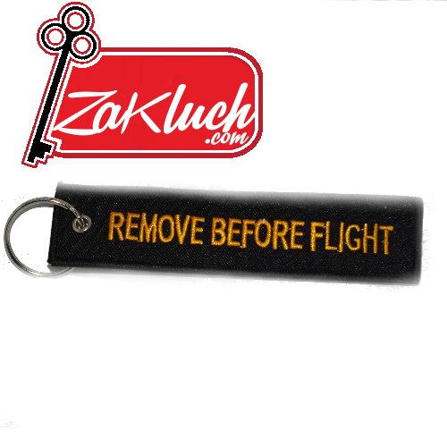 Черен ключодържател за мотоциклети - Remove Before Flight