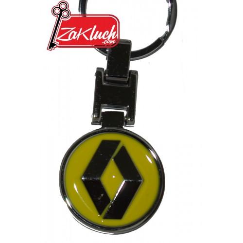 Рено - метален ключодържател с две лица и жълто лого