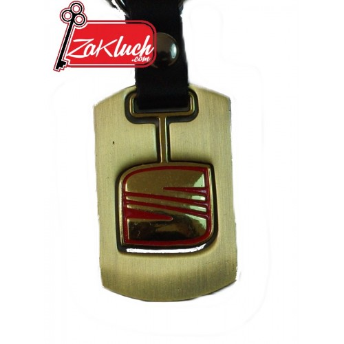 SEAT  - метален ключодържател в златист цвят