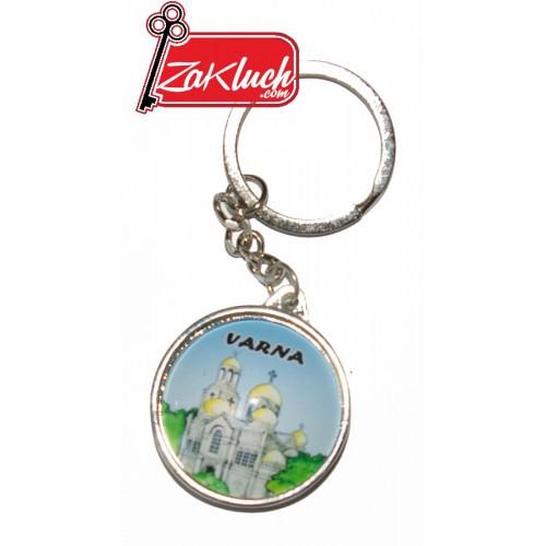 Варна - България - ключодържател с две лица