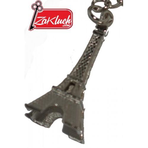 Айфеловата кула - метален сребрист ключодържател