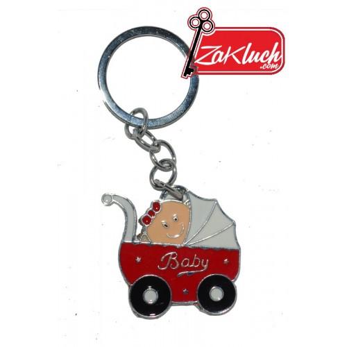 Бебешка количка - червена, с бебенце