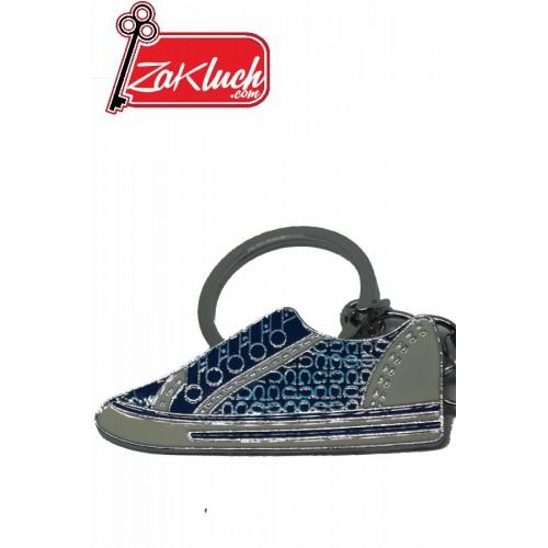 Метален ключодържател - син кец