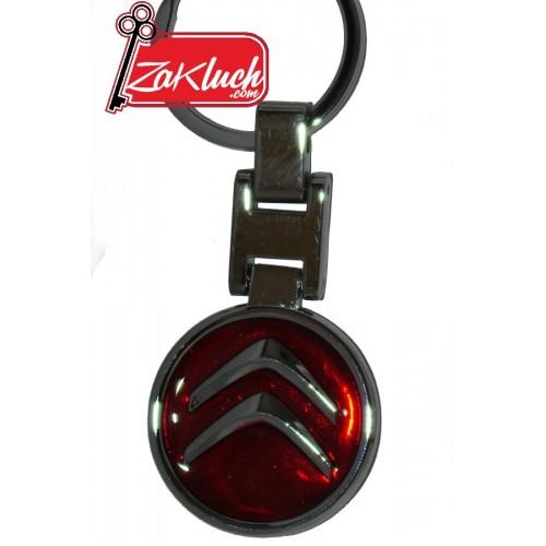 Ситроен - червен масивен ключодържател, с две лица