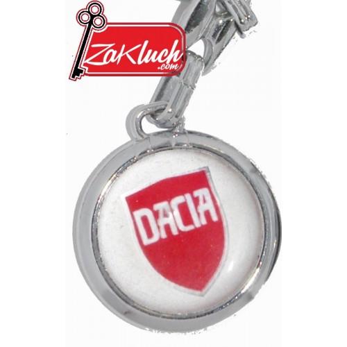 Dacia - метален ключодържател с червена емблема