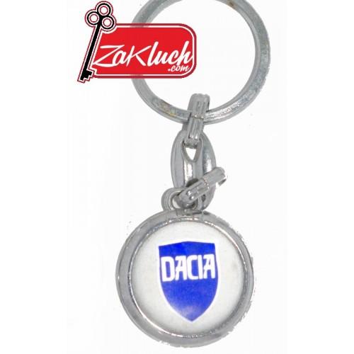 Dacia - метален ключодържател със синя емблема