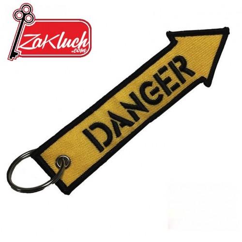 Опасно - Danger - мото ключодържател - нов модел