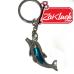 Делфинче - метален ключодържател със синьо