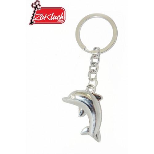Делфинче - триизмерен ключодържател, изработен от метал