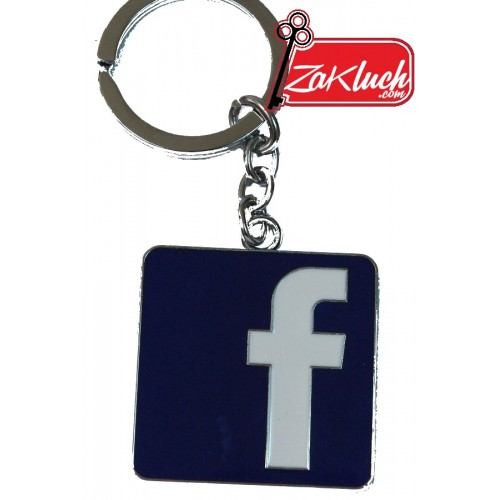 Facebook ключодържател, изработен от метал