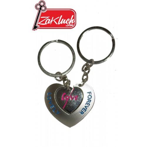 Forever Loveley - обичам те - двоен ключодържател за влюбени