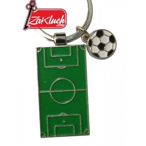 Футболно игрище и топка - метален сувенир от две части