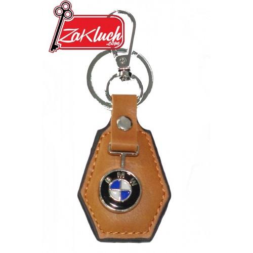 Кожен ключодържател за BMW  - кафяв