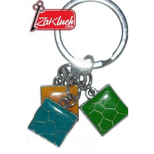 Ключодържател с три елемента - плочки в различен цвят