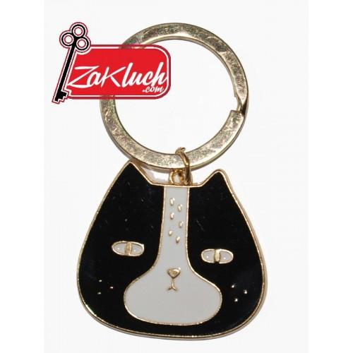 Елегантен дамски ключодържател - котенце в черен и златист цвят