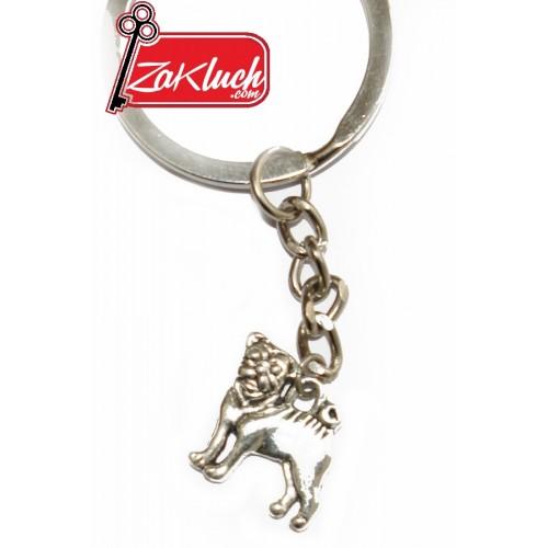 МОПС - порода куче, метален сувенир с две лица