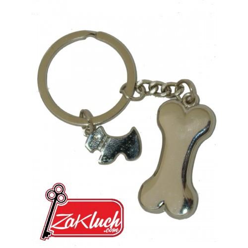 Кученце с кокалче - луксозен ключодържател
