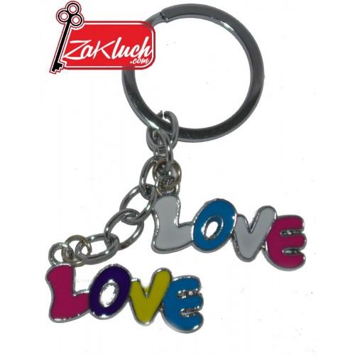 Love - ключодържател с две метални плочки