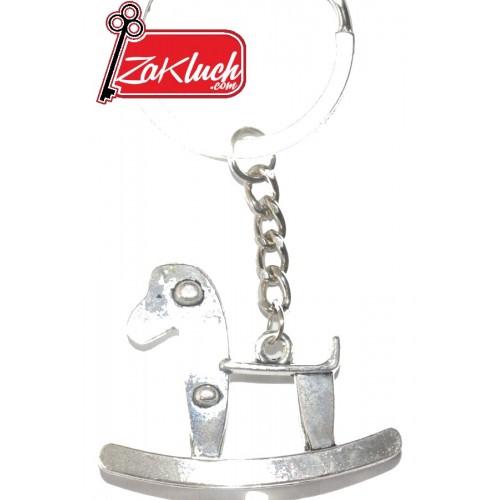 Люлеещо се конче - метален ключодържател