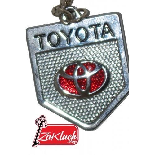 Toyota - метален ключодържател с две страни и червен знак