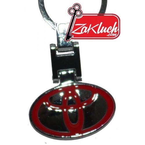 Тойота - метален ключодържател с две лица