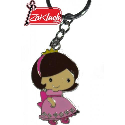 Момиченце с розова рокля - метален сувенир