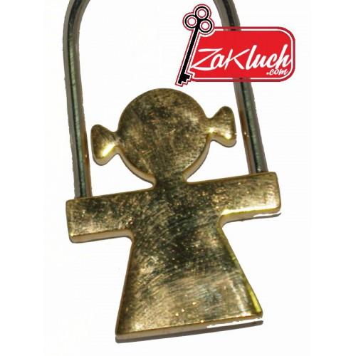 Златисто момиченце - масивен ключодържател
