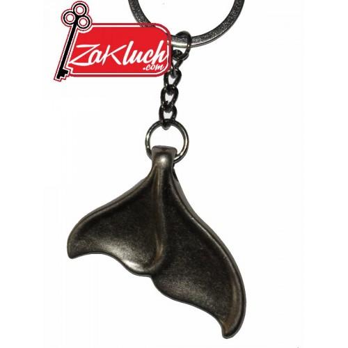 Акулска опашка - метален ключодържател 3D