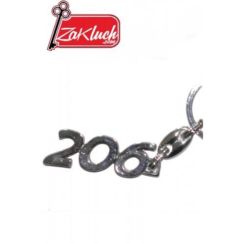 Пежо 206 - метален ключодържател