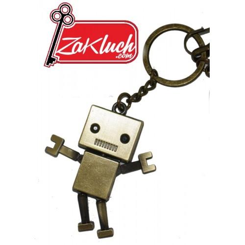 Робот - ключодържател в меден цвят