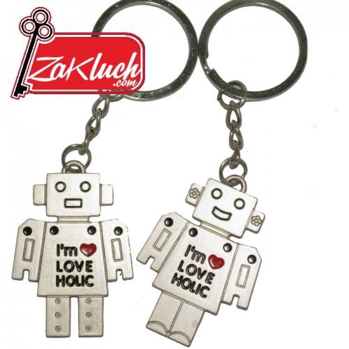 Двоен ключодържател - музикални роботчета