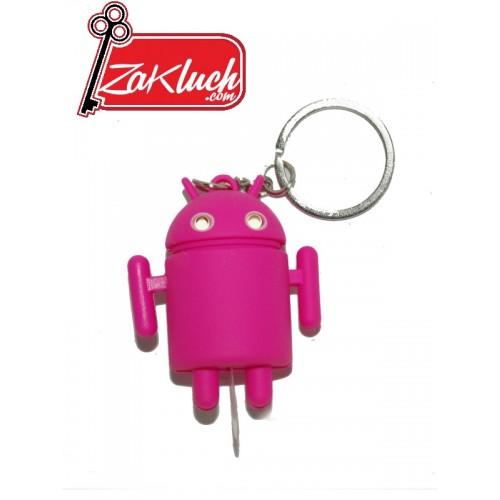Розов LED ключодържател - Андроид