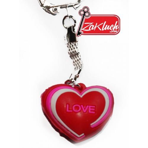 Самотно сърце - гумен ключодържател