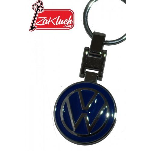 Син метален ключодържател за автомобили VW