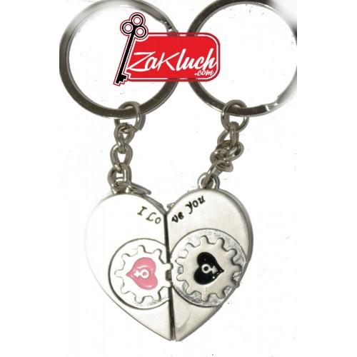 Сувенир, съставен от две части под формата на сърце