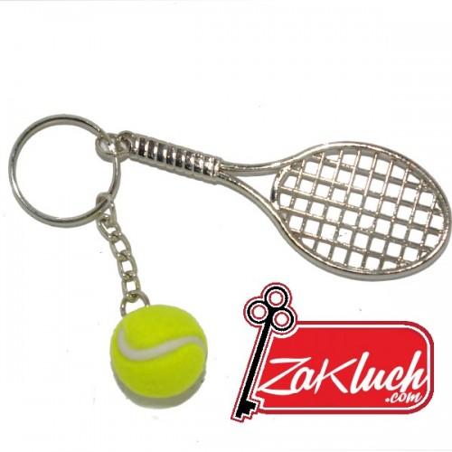 Тенис ракета с топче - метална