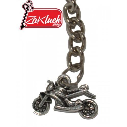 Турър мотоциклет - метален ключодържател с две лица