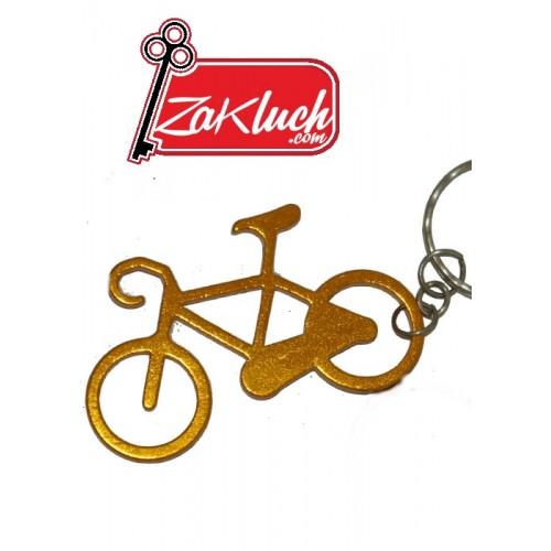 Велосипед в златист цвят
