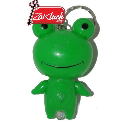 Веселата жабка - светещ ключодържател
