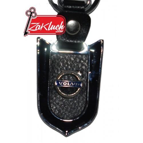VOLVO - луксозен ключодържател, черен на цвят, изработен от кожа